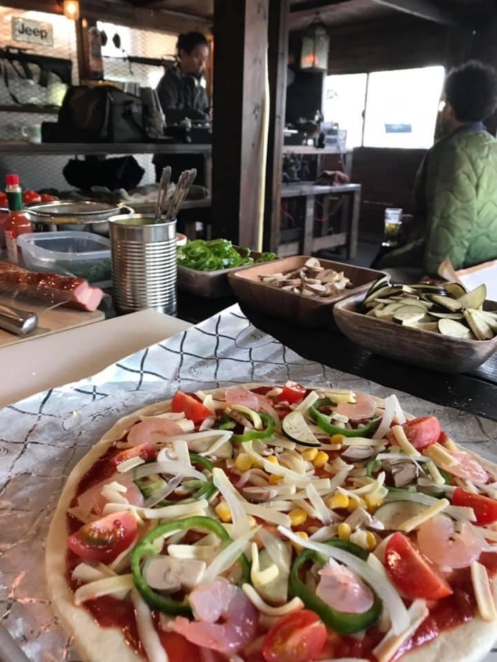 本格的なピザ窯でピザパーティー